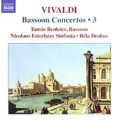 Vivaldi: Bassoon Concertos Vol 3 / Benk&oacute;cs, Drahos, et al